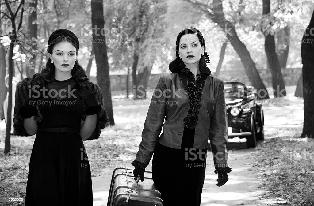 1940s Style. A Road Trip. stock photo