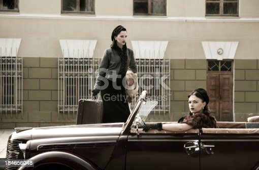 istock 1940s Style. A Road Trip. 184656048