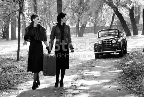istock 1940s Style. A Road Trip. 184657593