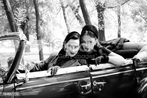 istock 1940s Style. A Road Trip. 184657720