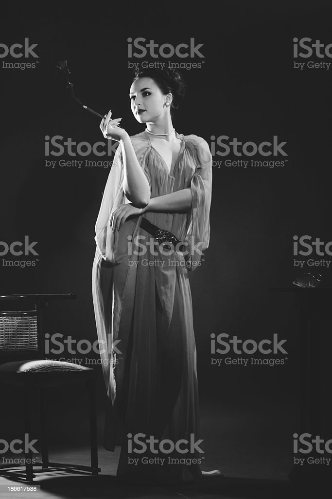 1940s style. Pure Elegance stock photo