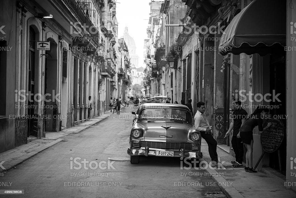 1950s Chevy in Havana, Cuba stock photo