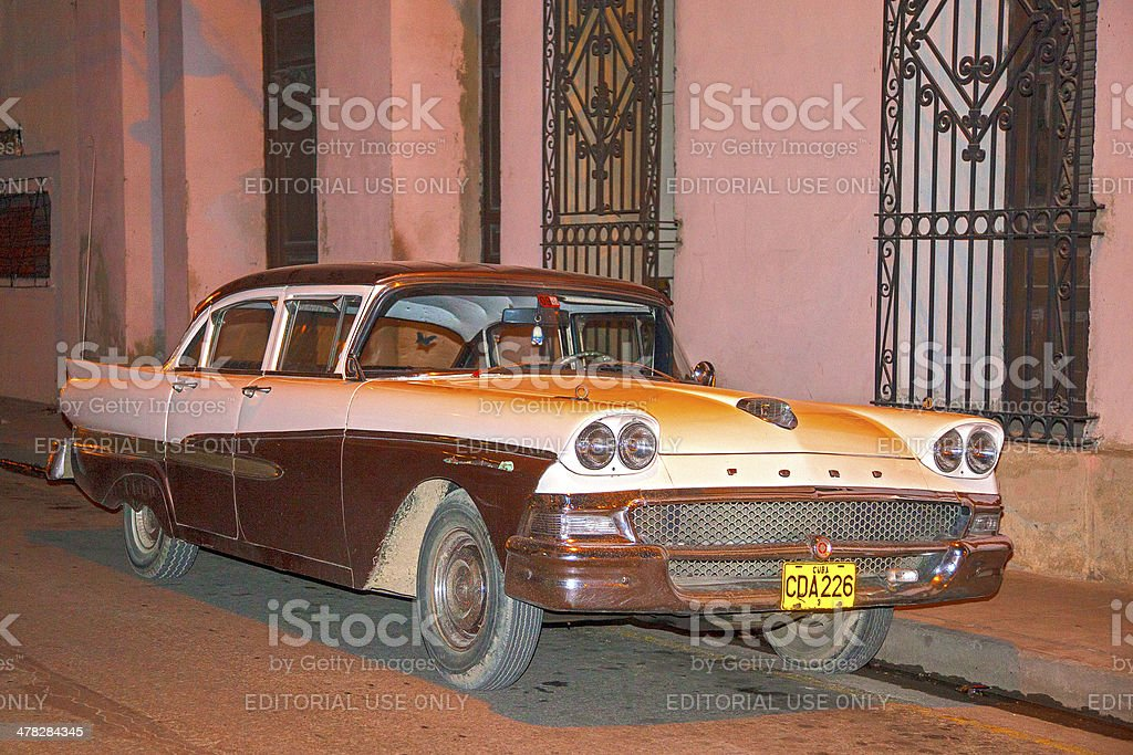 1950s Ford Fairlane sedan stock photo