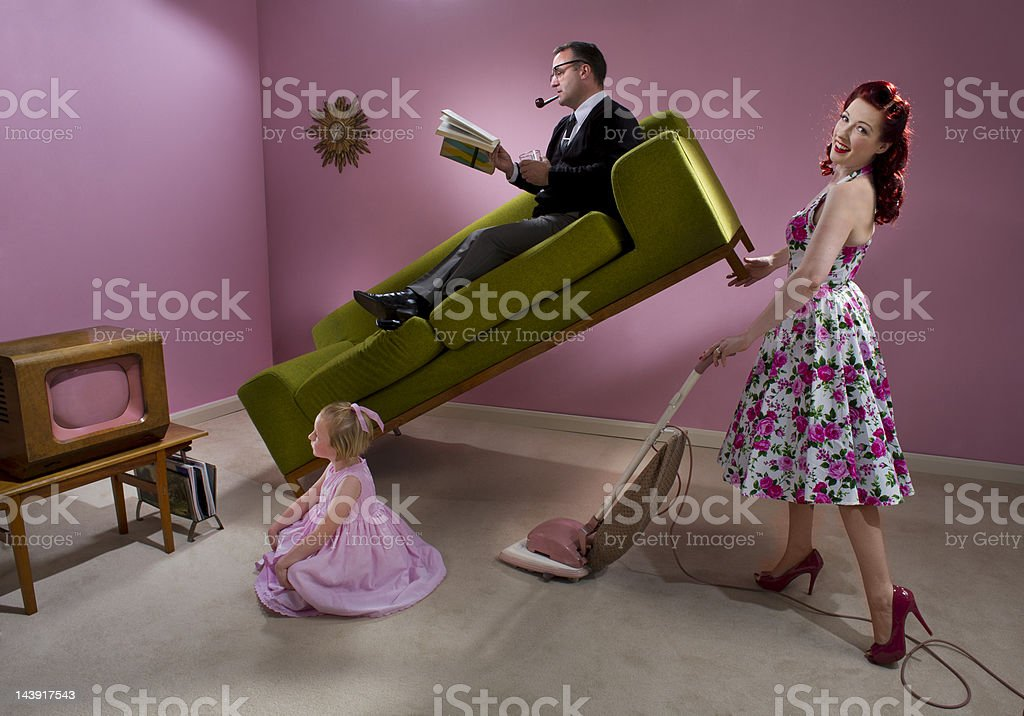 1950s housewife royalty-free stock photo
