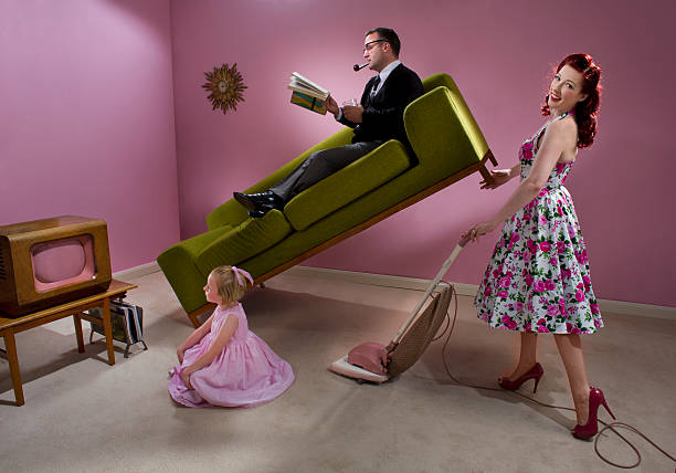 1950s housewife - gender stereotypes stock pictures, royalty-free photos & images