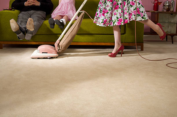 1950s housework - gender stereotypes stock pictures, royalty-free photos & images