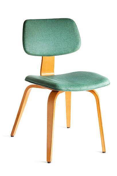 1950 ą okresie meble – wygięty drewniane krzesło na białym tle restauracji - krzesło zdjęcia i obrazy z banku zdjęć