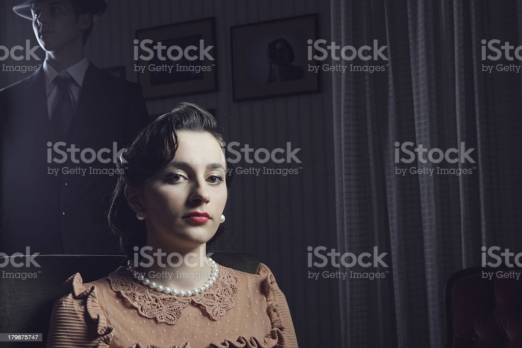 1950s woman portrait royalty-free stock photo
