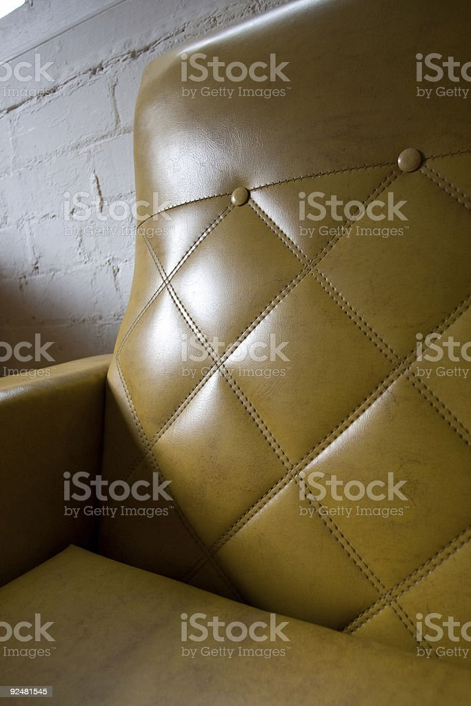 1960s lounge stitching and buttons royalty-free stock photo