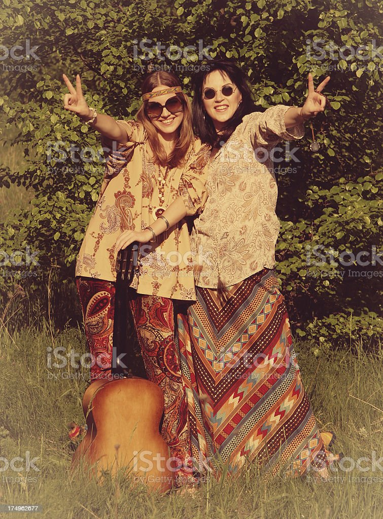 1960s Style Hippie Girls Stock Photo & More Pictures of ...