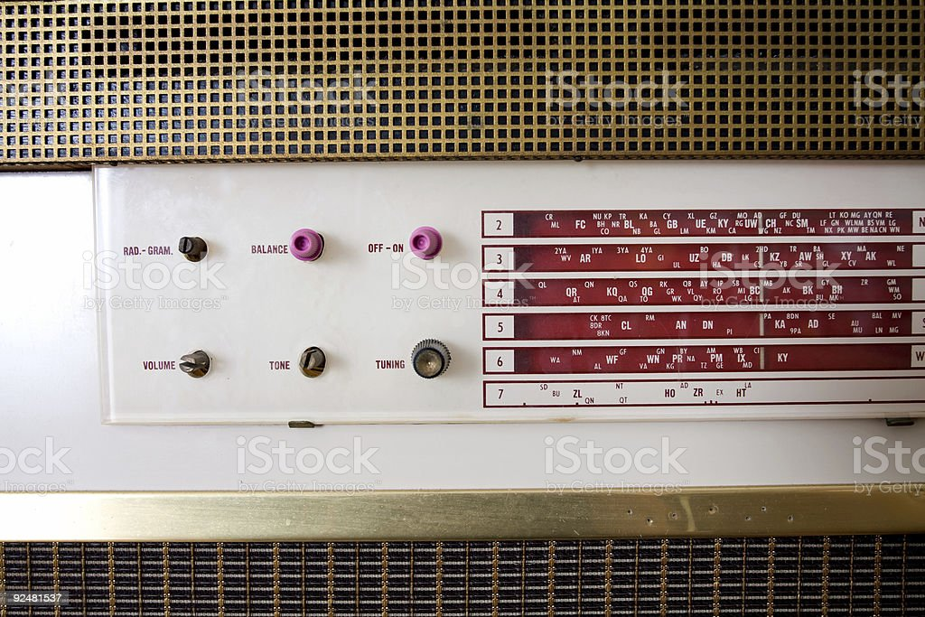 1960s style radio royalty-free stock photo