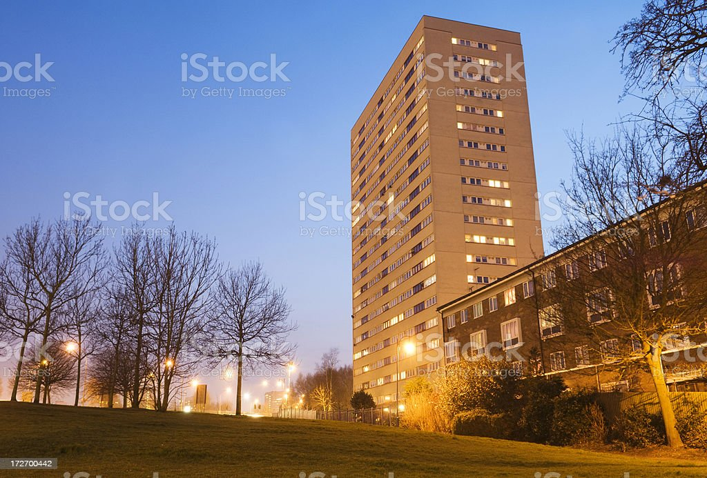1960s Tower Block in Birmingham UK royalty-free stock photo