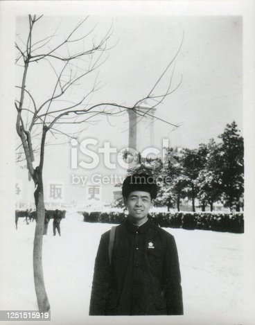 1970s China young men portrait monochrome old photo
