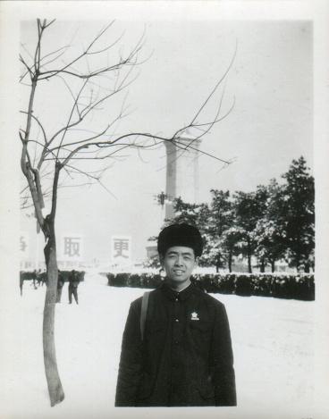 1970s China young men portrait monochrome old photo
