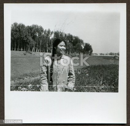 1970s Chinese Girl portrait monochrome old photo