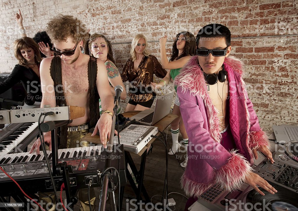 1970s Disco Music Party royalty-free stock photo