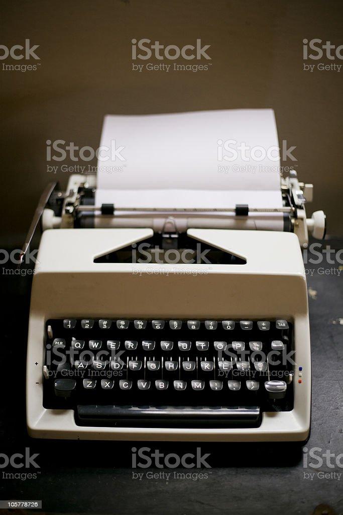 1970s era typewriter royalty-free stock photo
