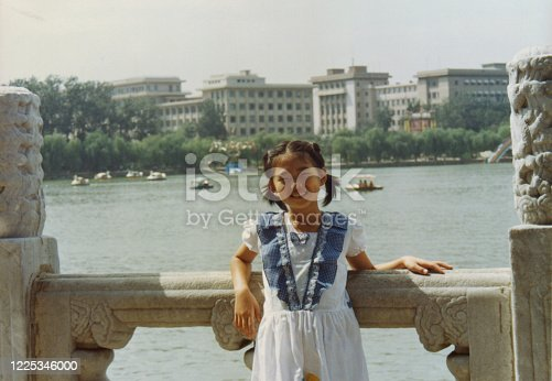 1980s China Little girl photos of real life