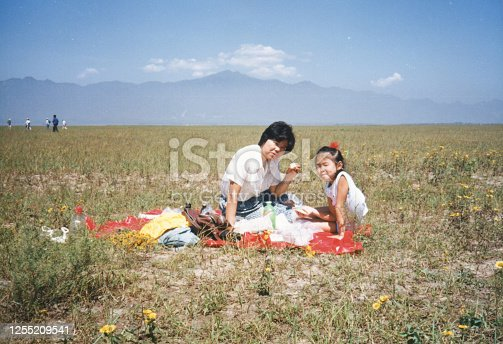 1980s China Mother and daughter photos of real life