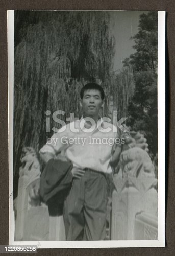 1980s China young men portrait monochrome old photo