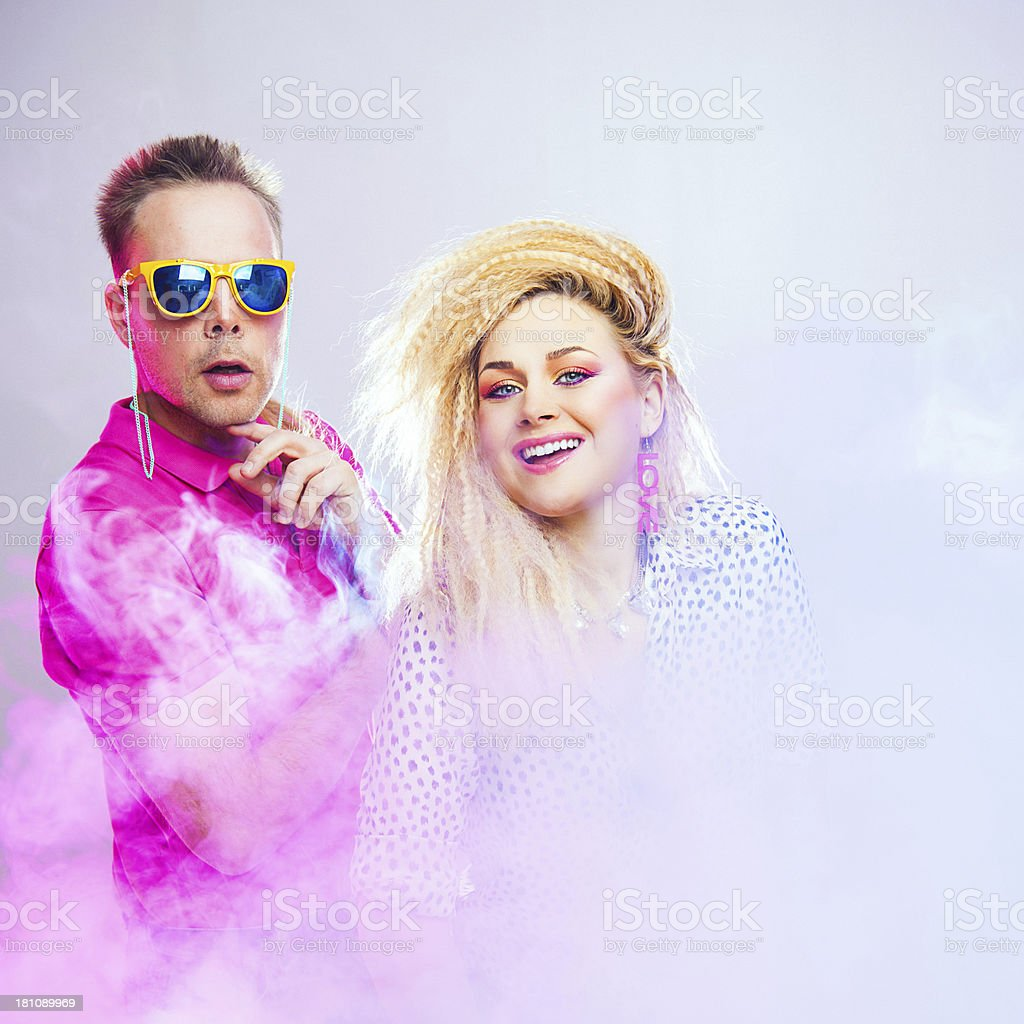 1980s couple royalty-free stock photo