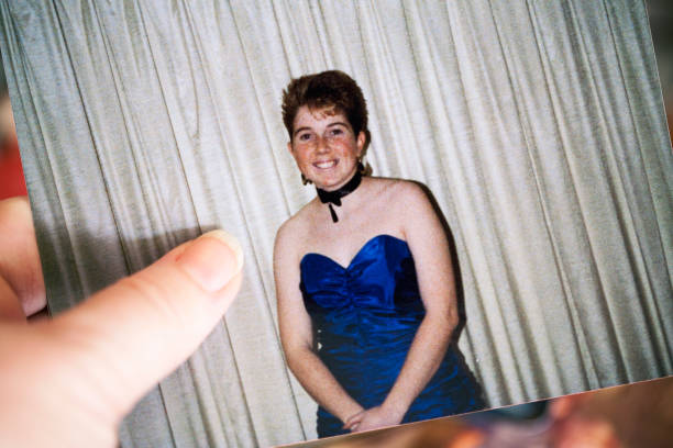 1980s photo - prom fashion stock photos and pictures