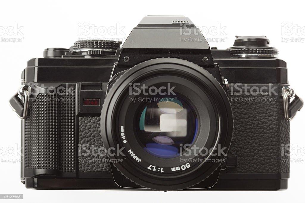 1980s style 35mm SLR camera royalty-free stock photo