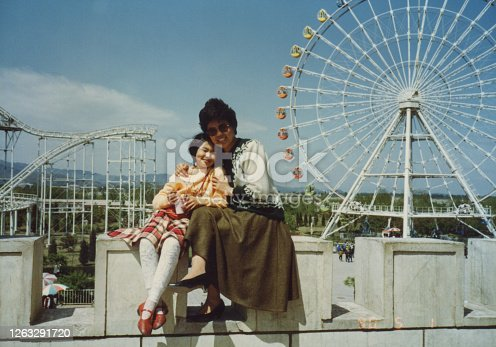 1990s China Mom and daughter photos of real life
