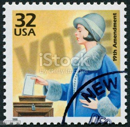 istock 19th Amendment Stamp 173371625