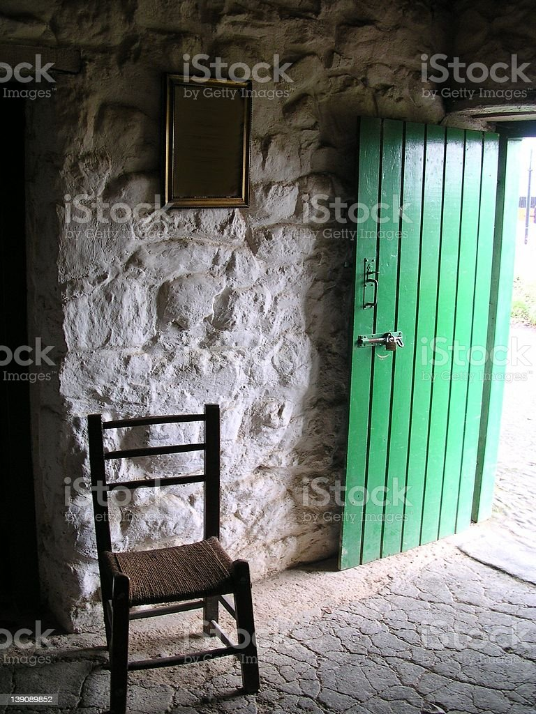 19th cent. Irish cottage royalty-free stock photo
