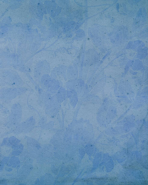 19th century floral paper design - watermark stock photos and pictures