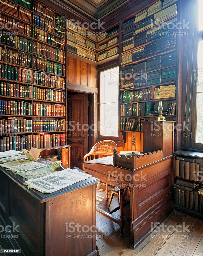 19 th Century biblioteca (XXL - foto de stock