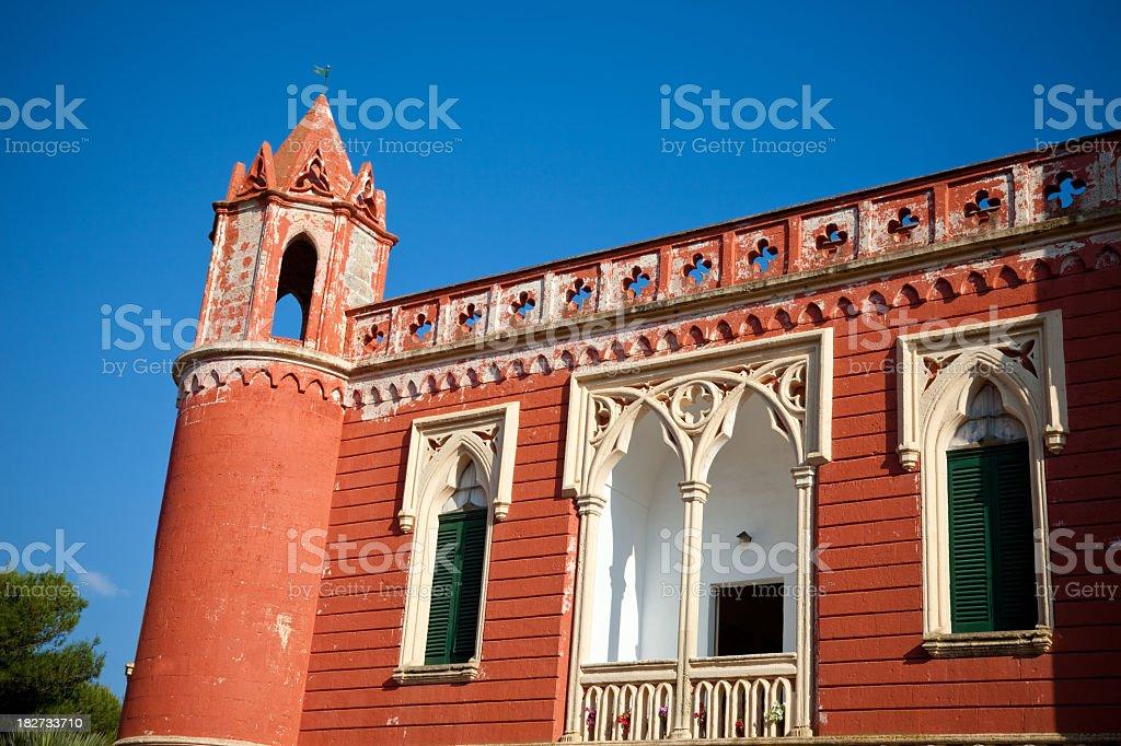 19th Century Patrician Villa (Santa Maria di Leuca, Italy) stock photo