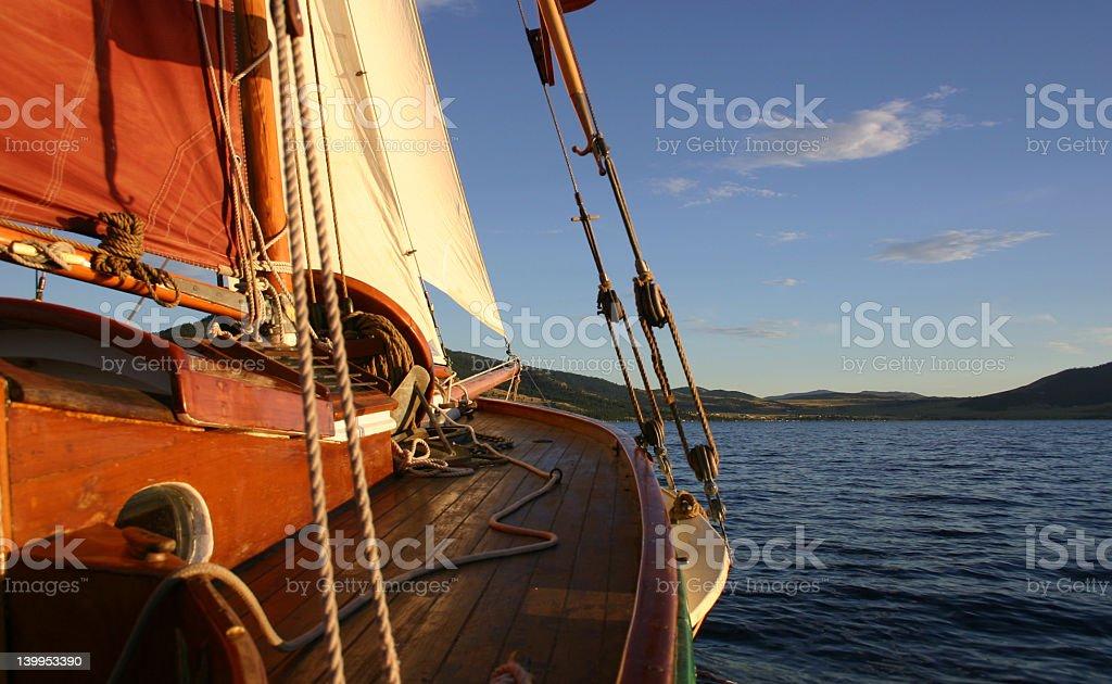 19th century sailboat stock photo