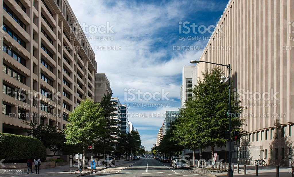 19th street World Bank and IMF stock photo