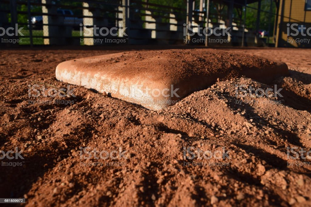 1st base in Baseball stock photo
