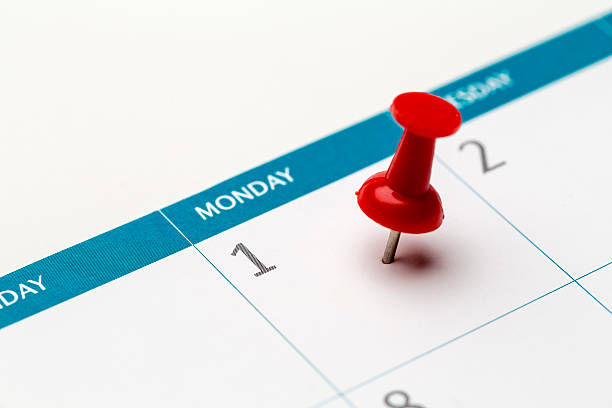 1st of the month marked on calendar – Foto