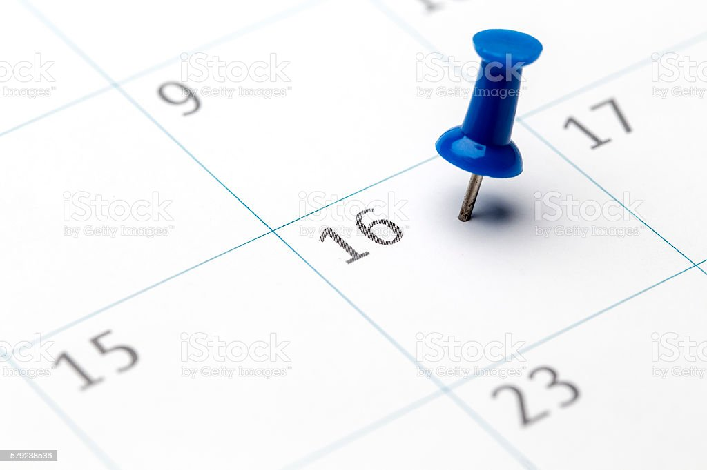 1st of the month marked on calendar stock photo