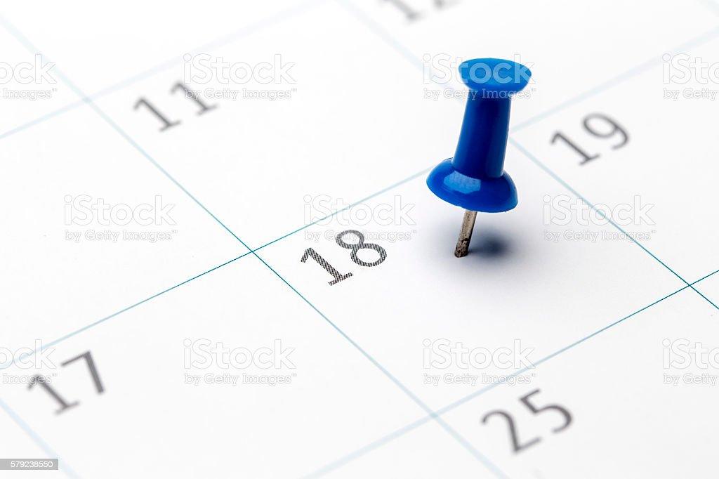 1st of the month marked on calendar - foto de acervo