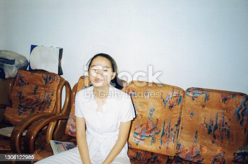 2000s China Young Girl Old Photo of Real Life