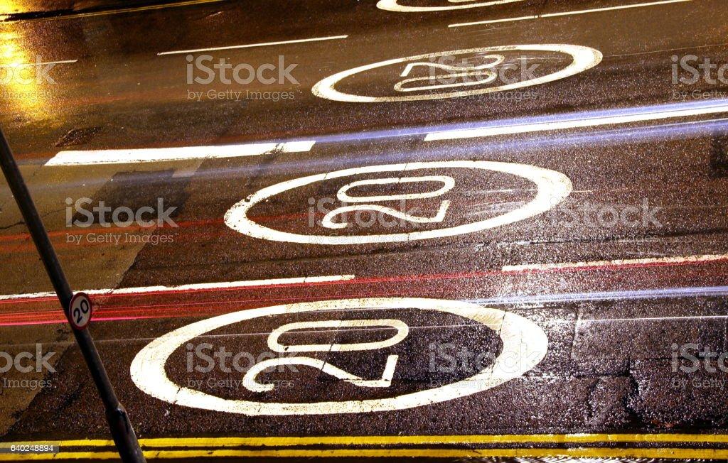 20mph speed limits stock photo