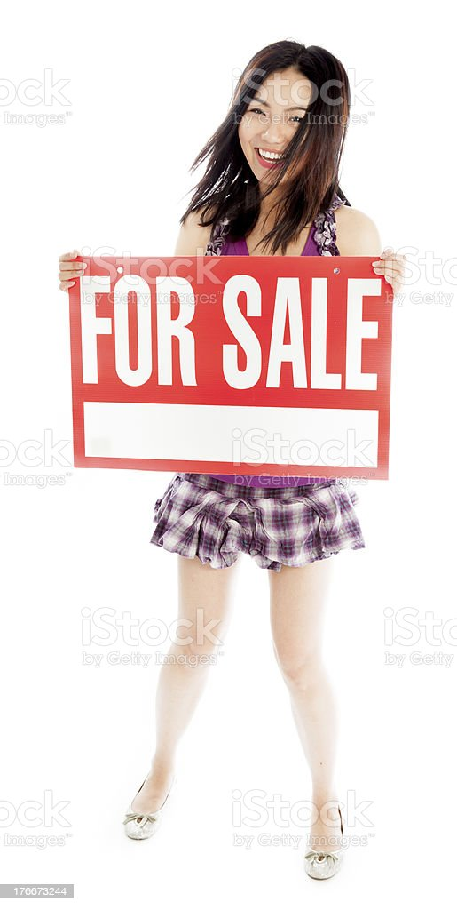 20s Asian student girl isolated white background going to school royalty-free stock photo