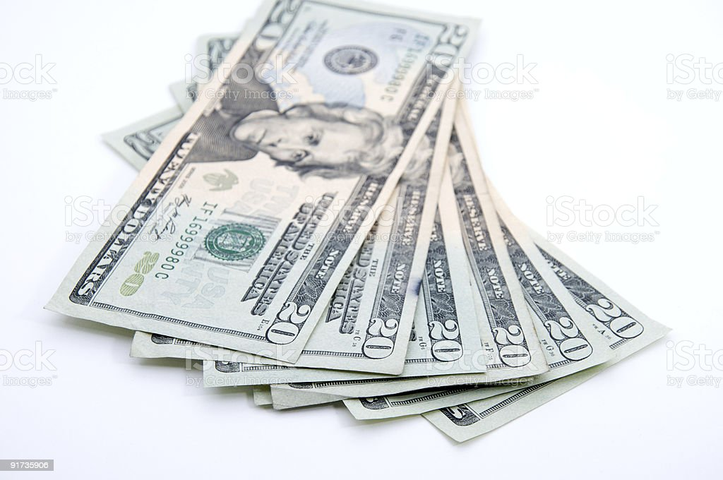 20s spread out, focus on numbers royalty-free stock photo