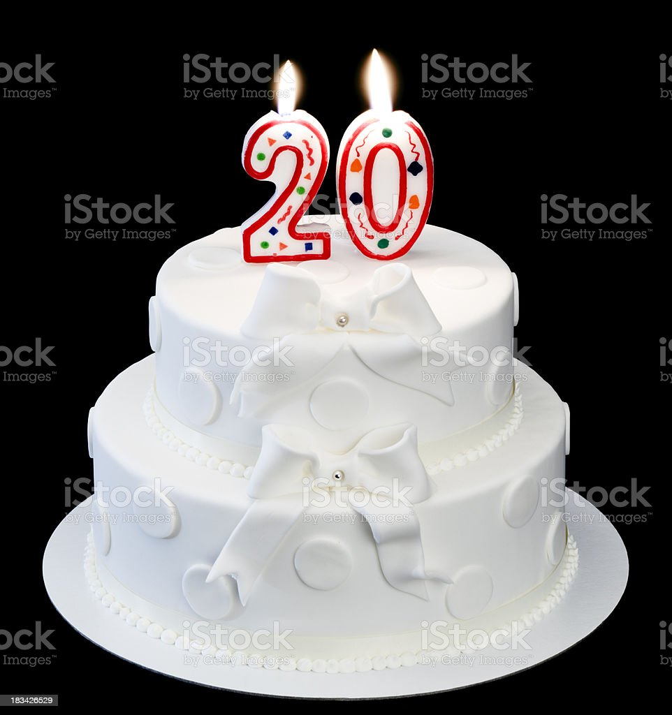 20th anniversary royalty-free stock photo