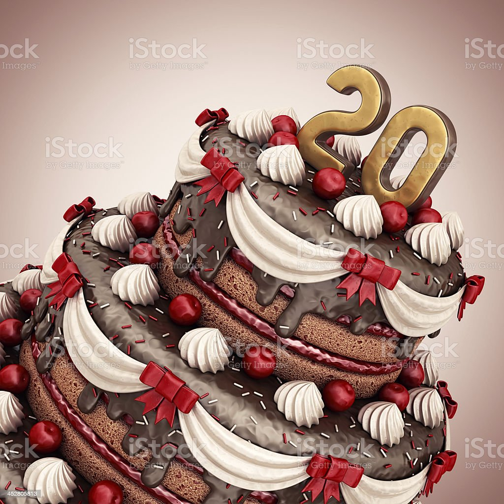 Awe Inspiring 20Th Birthdayanniversary Stock Photo Download Image Now Istock Personalised Birthday Cards Veneteletsinfo