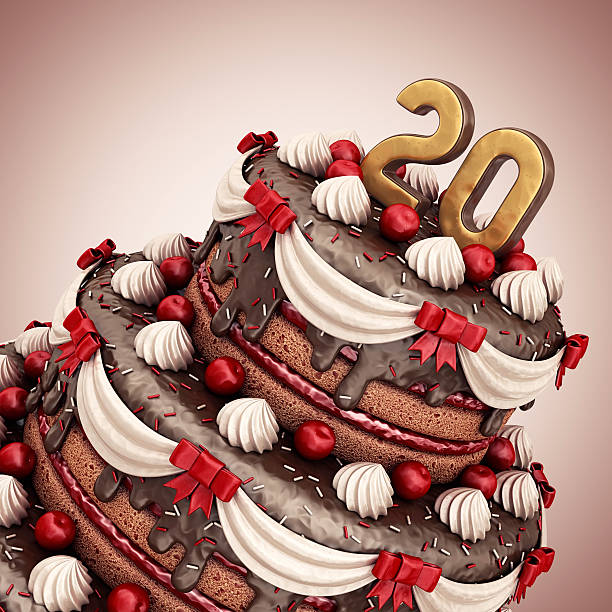 Royalty Free Number 20 Birthday Cake Birthday Cake Pictures Images