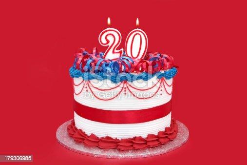 istock 20th Cake 179306985