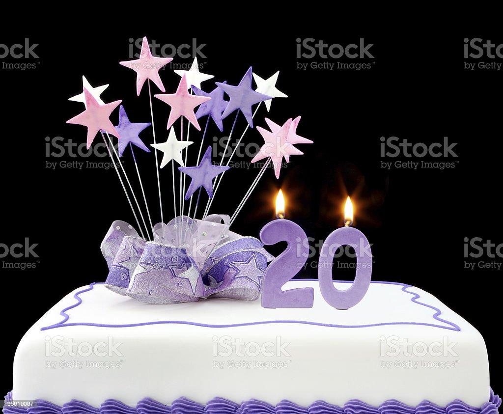 20th Cake stock photo