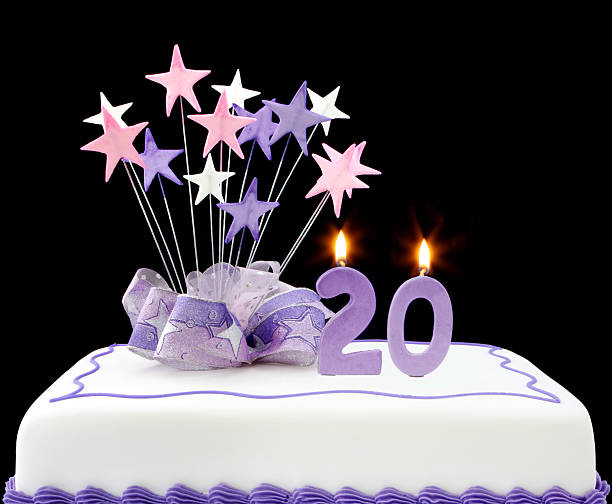 20th cake - number 20 stock photos and pictures