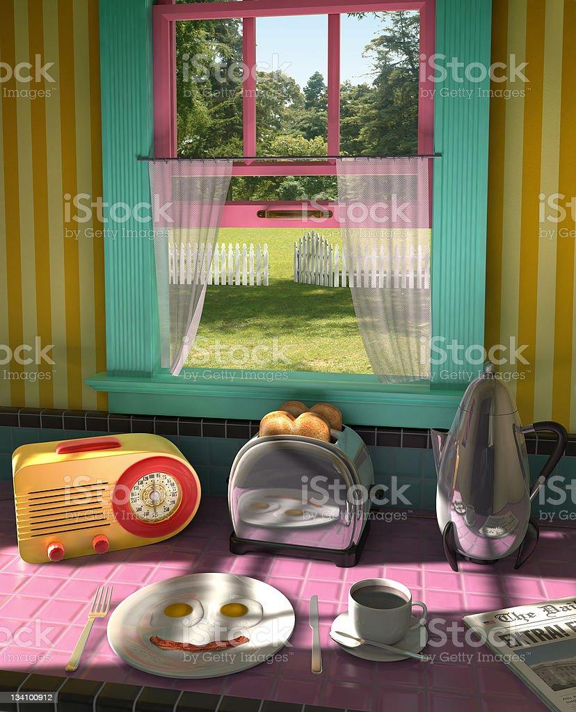 20th Century Breakfast stock photo